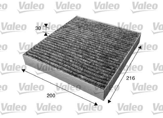 VALEO  715630 Filter, Innenraumluft Länge: 216mm, Breite: 200mm, Höhe: 30mm