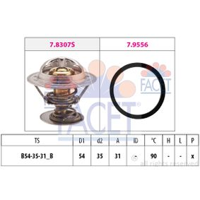 Thermostat, coolant D1: 54mm, D2: 35mm with OEM Number 271 417