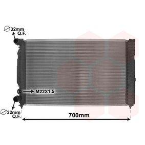 Wasserkühler VW PASSAT Variant (3B6) 1.9 TDI 130 PS ab 11.2000 VAN WEZEL Kühler, Motorkühlung (03002189) für