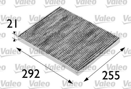 VALEO  698688 Filter, Innenraumluft Länge: 293mm, Breite: 226mm, Höhe: 21mm