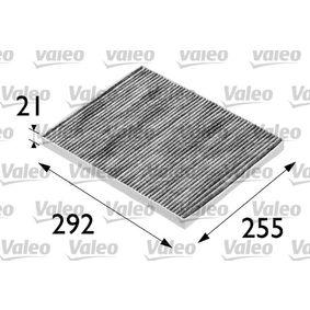 Filter, Innenraumluft Länge: 293mm, Breite: 226mm, Höhe: 21mm mit OEM-Nummer 60 814 643