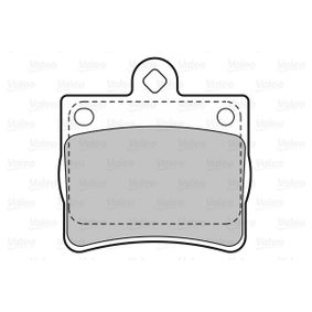 Bremsbelagsatz, Scheibenbremse Breite: 64,1mm, Höhe: 63,4mm, Dicke/Stärke: 15,5mm mit OEM-Nummer A00 242 05120