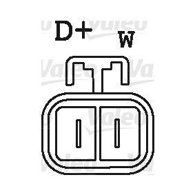 Lichtmaschine Rippenanzahl: 6 mit OEM-Nummer 6 204 182
