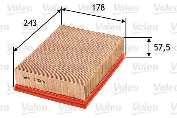 Filter 585074 VALEO 585074 in Original Qualität