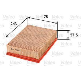 Luftfilter Länge: 243mm, Breite: 178mm, Höhe: 57,5mm mit OEM-Nummer 13721730449