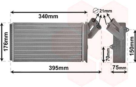 VAN WEZEL  09006129 Wärmetauscher, Innenraumheizung Kühlrippen mechanisch gefügt, Kunststoff, Aluminium
