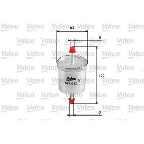 Kraftstofffilter Höhe: 122mm mit OEM-Nummer 16400-V2700