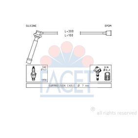 Ignition Cable Kit with OEM Number 33705-80G00-000