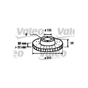 Bremsscheibe Bremsscheibendicke: 32mm, Felge: 6-loch, Ø: 311mm mit OEM-Nummer 43512 60 090