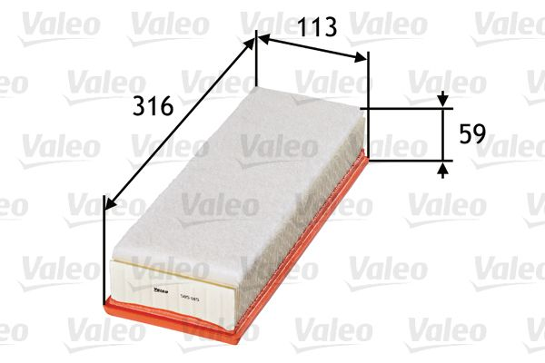 Air Filter VALEO 585015 3276425850156