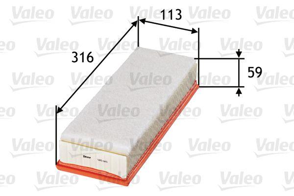 Luchtfilter VALEO 585015 3276425850156