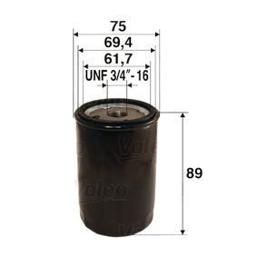 Filtre à huile Ø: 75mm, Diamètre intérieur 2: 69,4mm, Diamètre intérieur 2: 61,7mm, Hauteur: 89mm avec OEM numéro 4434791