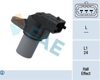 FAE  79309 Sensor, posición arbol de levas Número de polos: 3polos