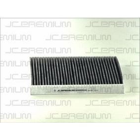 JC PREMIUM Filter, Innenraumluft B4W019CPR für AUDI Q7 (4L) 3.0 TDI ab Baujahr 11.2007, 240 PS