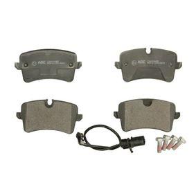 Kit de plaquettes de frein, frein à disque Hauteur 1: 59mm, Hauteur 2: 60,1mm, Épaisseur: 17,3mm avec OEM numéro 4H0698451A