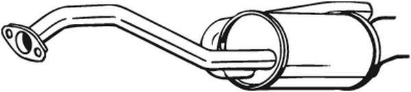 BOSAL  163-057 Endschalldämpfer