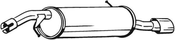 BOSAL  190-183 Endschalldämpfer