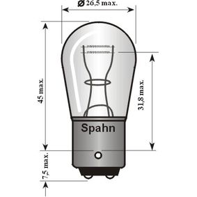 Bulb, brake / tail light P21/5W, 6V, Bay15d, 21/5W 6014