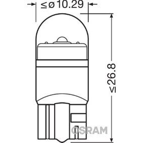 OSRAM Glühlampe, Innenraumleuchte 2850BL-02B für AUDI A4 Cabriolet (8H7, B6, 8HE, B7) 3.2 FSI ab Baujahr 01.2006, 255 PS