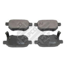MAPCO  6927 Bremsbelagsatz, Scheibenbremse Breite: 98,6mm, Höhe: 42,6mm, Dicke/Stärke: 14,5mm
