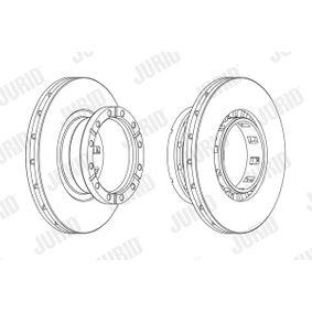 JURID  569161J Bremsscheibe Bremsscheibendicke: 45mm, Lochanzahl: 12, Ø: 432mm
