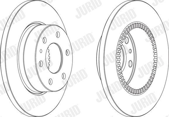 JURID  569163J Bremsscheibe Bremsscheibendicke: 16mm, Lochanzahl: 6, Ø: 296mm