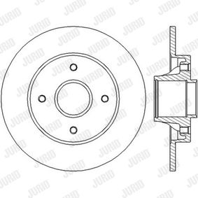 Bremsscheibe Bremsscheibendicke: 9mm, Lochanzahl: 4, Ø: 249mm mit OEM-Nummer 42.49.66