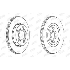 Brake Disc Brake Disc Thickness: 22mm, Num. of holes: 5, Ø: 256mm with OEM Number 1 546 835