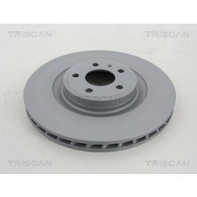 Brake Disc Brake Disc Thickness: 30mm, Num. of holes: 5, Ø: 345mm with OEM Number 8K0 615 301 Q