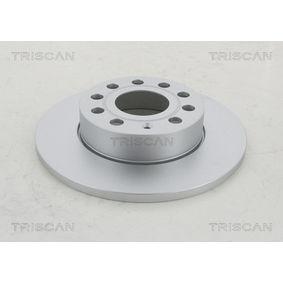 Bremsscheibe Bremsscheibendicke: 12mm, Lochanzahl: 5, Ø: 256mm mit OEM-Nummer 1K0 615 601 AC