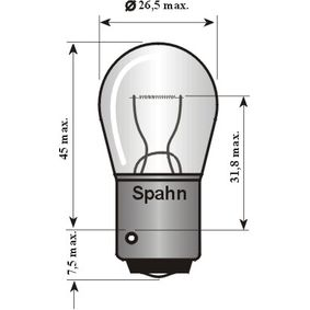 Glühlampe, Blinkleuchte PY21W, Bau15s, 12V, 21W 2012