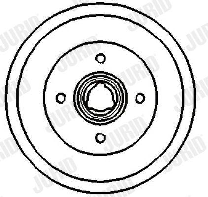 Bremstrommeln 329126J JURID 329126J in Original Qualität