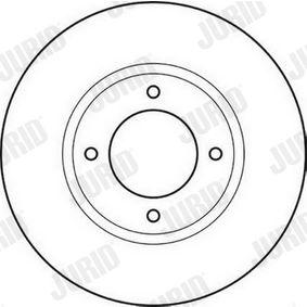 Bremsscheibe Bremsscheibendicke: 11mm, Lochanzahl: 4, Ø: 238mm mit OEM-Nummer 5.69.018