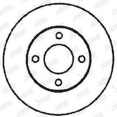 Bremsscheiben 561312JC JURID 561312 in Original Qualität