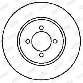 Brake Disc Brake Disc Thickness: 10mm, Num. of holes: 4, Ø: 253mm with OEM Number 1 514 237
