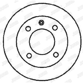 JURID Brake disc kit Solid, Coated, without bolts/screws