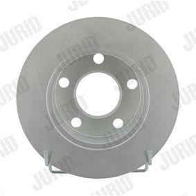 Bremsscheiben VW PASSAT Variant (3B6) 1.9 TDI 130 PS ab 11.2000 JURID Bremsscheibe (561549JC) für