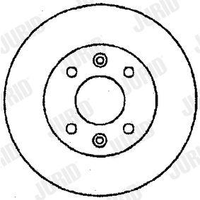 Bremsscheibe Bremsscheibendicke: 8mm, Lochanzahl: 4, Ø: 238mm mit OEM-Nummer 77 01 204 302
