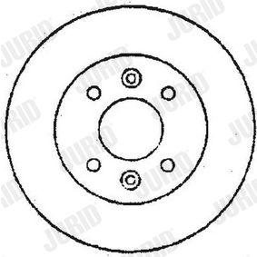 Bremsscheibe Bremsscheibendicke: 22mm, Lochanzahl: 5, Ø: 262mm mit OEM-Nummer 77.01.205.841
