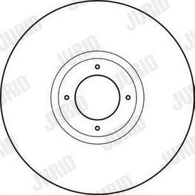 JURID  561623JC Bremsscheibe Bremsscheibendicke: 9,5mm, Lochanzahl: 4, Ø: 213mm