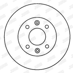 Bremsscheibe Bremsscheibendicke: 21mm, Lochanzahl: 4, Ø: 259mm mit OEM-Nummer 7700780892