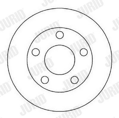 JURID  562005J Bremsscheibe Bremsscheibendicke: 10mm, Lochanzahl: 5, Ø: 245mm