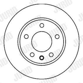 JURID  562040J Bremsscheibe Bremsscheibendicke: 22mm, Lochanzahl: 5, Ø: 256mm