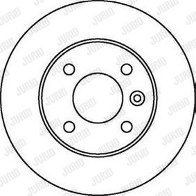 JURID Brake disc kit 1, 37, with bolts/screws