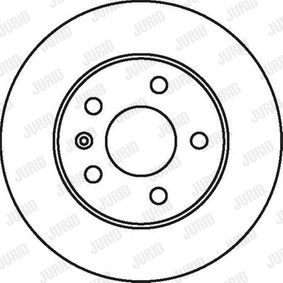 Bremsscheibe Bremsscheibendicke: 10mm, Lochanzahl: 5, Ø: 264mm mit OEM-Nummer 569 109
