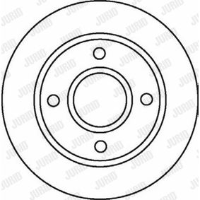 Brake Disc Brake Disc Thickness: 22mm, Num. of holes: 4, Ø: 258mm with OEM Number 98AG112-5EA
