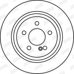 Brake Disc Brake Disc Thickness: 10mm, Num. of holes: 5, Ø: 300mm with OEM Number S51712 2K100