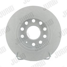 Bremsscheibe Bremsscheibendicke: 10mm, Lochanzahl: 5, Ø: 255mm mit OEM-Nummer 1K0 615 601 AB