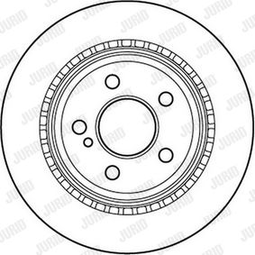 Brake Disc 562242JC E-Class Saloon (W212) E 350 CDI 3.0 MY 2011