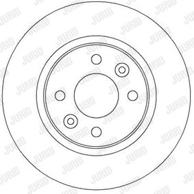 Bremsscheibe Bremsscheibendicke: 12mm, Lochanzahl: 4, Ø: 259mm mit OEM-Nummer 60.01.547.683